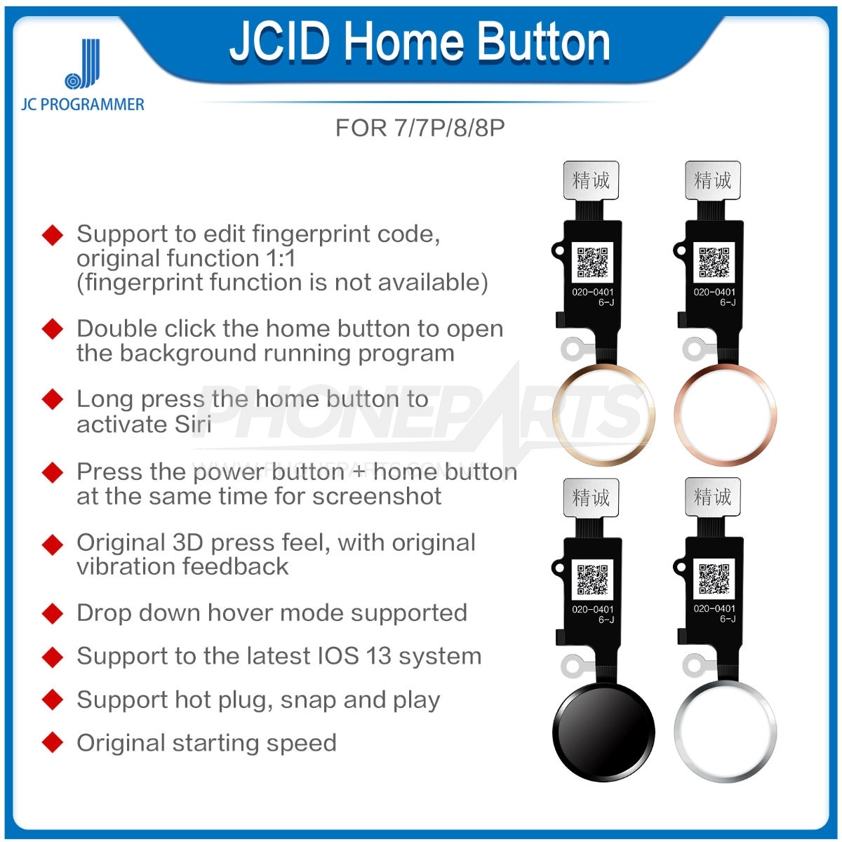 Jcid Sixth 6 Generation Home Button  Support 7  7p  8  8p